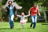 Family running — Stock Photo