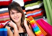 Woman - shopping bags — Stock Photo