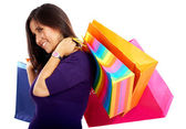 Girl out shopping — Stockfoto