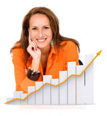 Business woman - success — Stock Photo