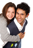 Happy teenage couple — Stock Photo