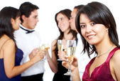 Friends at a party — Stock Photo