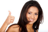 Woman - thumbs up — Stock Photo