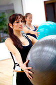 Doing pilates — Stock Photo