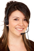 Customer support - headset — Stock Photo