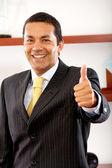 Polegares para cima, homem de negócios — Foto Stock