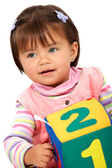 Preschool girl smiling — Stock Photo
