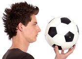 Bir futbol adamı — Stok fotoğraf