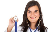 Female doctor smiling — Stock Photo
