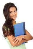 College student smiling — Stock Photo