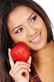 Hälsosamt ätande kvinna — Stockfoto