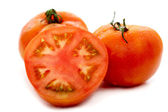 Red tomatoes isolated — Stock Photo