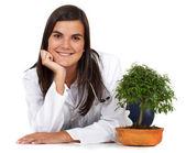 Female environment doctor — Stock Photo