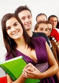 Студенты колледжа и учитель — Стоковое фото