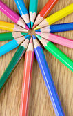 Lápis de cor fechar — Foto Stock
