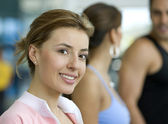 Girl at the gym — Stock Photo
