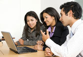 Business team of young entrepreneurs — Stock Photo