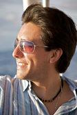 Man portrait with sunglasses — Stock Photo