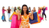 Group of women shopping — Stockfoto