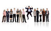 Business team - man standing out — Stock Photo