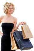 Donna elegante dello shopping — Foto Stock