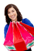 Shopping donna isolata — Foto Stock