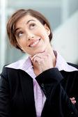 Thoughtful business woman — Stock Photo
