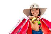 Summer woman shopping — Stock Photo