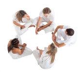 Assis sur un cercle — Photo