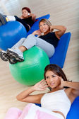 Pilates class in a gym — 图库照片