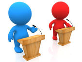 3D debate — Stock Photo