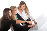 Business women with laptop — Stock Photo