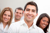 Business man with a group — Stock Photo