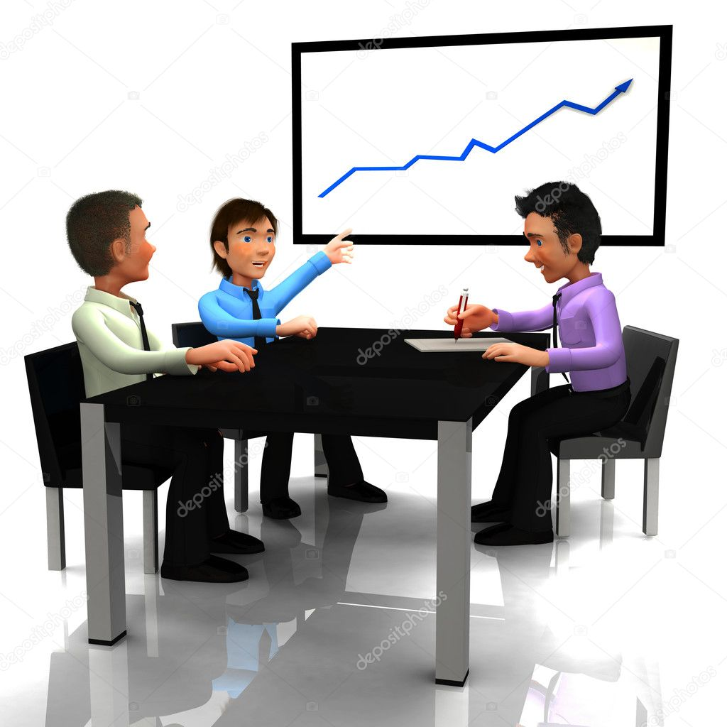 3d business meeting stock photo 169 andresr 7760369