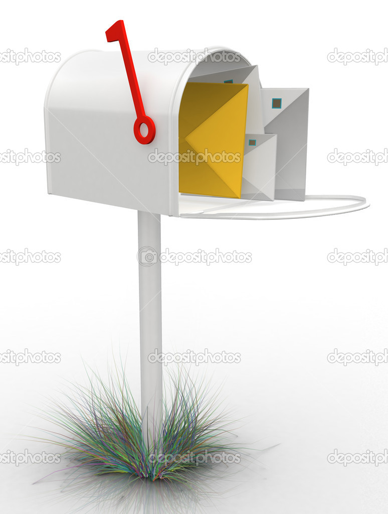 3D mailbox- isolated over a white background  Stockfoto #7762146