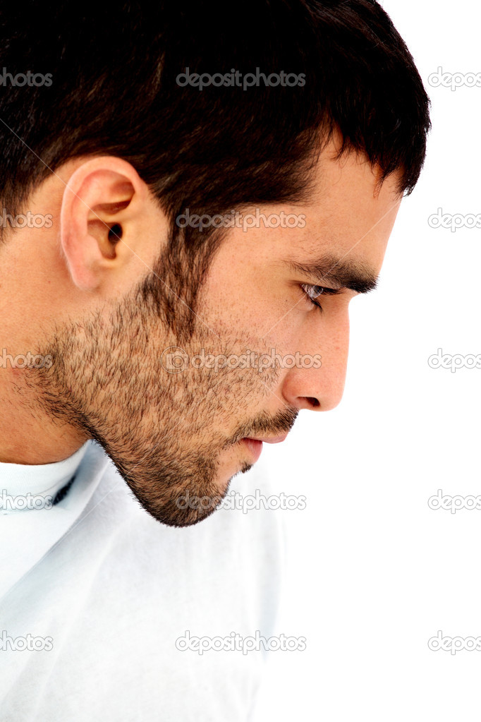 Male beauty face isolated over a white background — Stock Photo #7766522