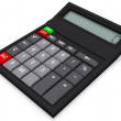 Stock Photo: 3D calculator