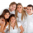 Happy group of friends - Stock Photo