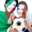 football fans — Stock Photo