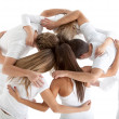 Group of hugging — Stock Photo