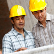 Architects at construction site — Stock Photo #7770246