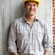 Construction worker smiling — Stock Photo #7770247
