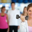 Gym group exercising — Stock Photo #7770308