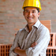 Construction worker smiling — Stock Photo #7770492