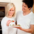 Royalty-Free Stock Photo: Healthy eating couple