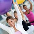 With pilates ball — Stock Photo #7770561