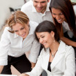 Business group with laptop — Stock Photo #7770566