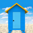 3D Beach hut - Stock Photo