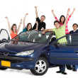 Happy with a car — Stock Photo #7770714
