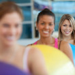 Women with pilates ball — Stock Photo #7770749